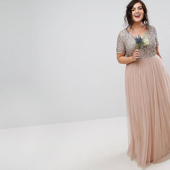 Blush Bridesmaid Dress Plus Size NWT